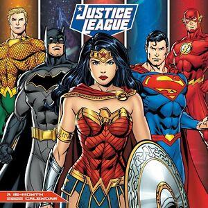 DC Comics Justice League 16 Month 2022 Comic Art Wall Calendar NEW SEALED