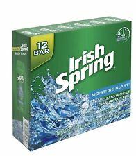 IRISH SPRING- Twelve (12) -3.7 oz Deodorant Bar Soaps- Moisture Blast Fast Ship