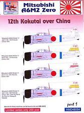 H-Models Decals 1/48 MITSUBISHI A6M2 ZERO 12th KOKUTAI OVER CHINA