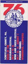 1976 Schuylkill County Festivals Brochure