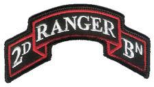 "New Wax Backed - Modern US 2nd Ranger Battalion Scroll - 3 7/8"" x 2"" Merrowed"