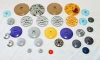 Lego Dishes Assorted Lot of 32 City Space Star Wars Some Printed Lot LD-1