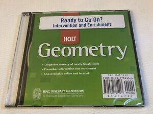 Holt Rinehart Geometry Interactive Answers and Solutions CDROM NEW XP Vista 7