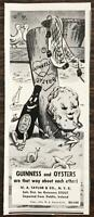 1940 Guinness Stout Print Ad Guinness & Oysters Adorable Cartoon Art