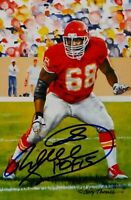 Will Shields Autographed Kansas City Chiefs Goal Line Art Card- JSA Auth