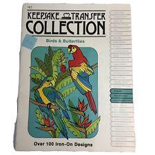 Vtg 1980 Craftways Keepsake Transfer Collection Birds & Butterflies #K7 NEW
