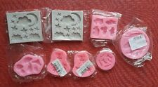 Lot 8 Silicone Molds / New / Can be used for Fondant Cake Decoration or Resin