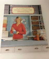 Martha Stewart Good Things For Organizing Book Random House 0609805940