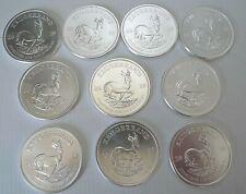 Krugerrand Silver bullion coins Ten Troy ounces of pure 999 silver new 2019 Mint