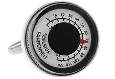 Thermometer Celsius Fahrenheit Cufflinks Wedding Fancy Gift Box Free Ship USA