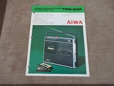 AIWA TPR-202 Portable radio Cassette player recorder Original Catalogue