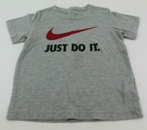 Nike Unisex Kids' Athletic Cut Tshirt Gray/Red/Black Size 6
