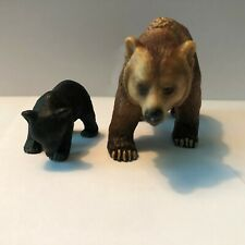 Schleich 2003 Grizzly Bear and Baby Brown Bear