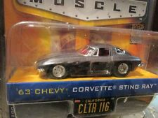 1963 63 CORVETTE STING RAY CHEVY BIGTIME MUSCLE GRAY 1/64 NEW  jada toys 8+
