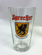 Sprecher beer glass bar glasses 1 micro bar Milwaukee Wisconsin brewery pub FR7