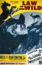 Rin-Tin-Tin Law of the wild vintage movie poster print