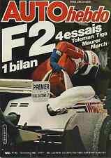 AUTO HEBDO n°241 du 13 Novembre 1980 Essais F2 Toleman Tiga Maurer March