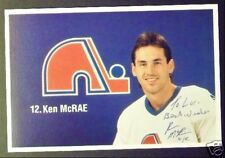 Ken McRae Quebec Nordiques Signed Photo Card