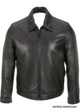 Calvin Klein jacket 100% authentic 100% Genuine Lamb Leather Black Bomber coat