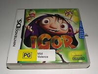 Igor The Game Nintendo DS 2DS 3DS Game *Complete*