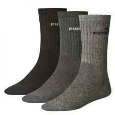 Mens Puma 3 Pack Grey Crew Socks (CSA1)