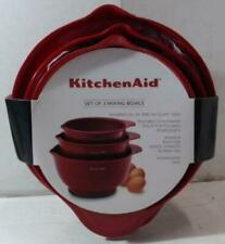 NEW OPEN PACKAGE KitchenAid Classic Mixing Bowls, Set of 3, Empire Red