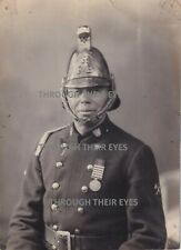 More details for original photo reading fireman wearing medal reading fire brigade 1934