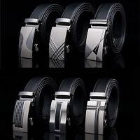 New Men's Luxury Automatic Buckle Waistband  Belts Waist Strap PU Leather Belt