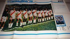 POSTER GIGANTE Argentina '78  Squadra TEAM Perù  / Peru  cm 70 50 circa.
