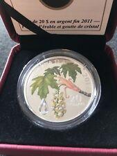 **2011** RCM, Maple Leaf Crystal Raindrop, Silver $20 Dollar Coin