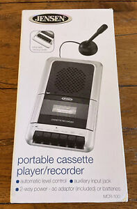 Jensen Portable Cassette Player Recorder MCR 100 W/Mic New