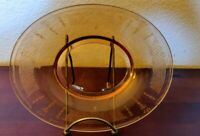 Depression Glass Gold/Yellow/Orange Oval Platter/Tray Plate Royal Banner Design