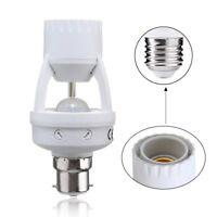AC110-240V B22 to E27 LED PIR Infrared Socket Switch Holder Bulb Base Screw