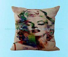 US Seller- Marilyn Monroe cushion cover pillowcase throw pillow case for sofa
