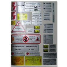 Étiquette / Set Autocollants pour VW Iltis 283 Bw Tableau Équipement Radio A3255