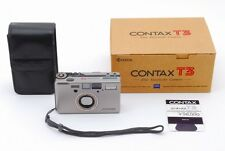 【Near Mint】Contax T3 Silver Point & Shoot Camera w/Box,Case from Japan (2228)