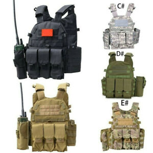 Outdoor Tactical Vest Airsoft Paintball Game Body Armor Molle Plate Carrier Vest
