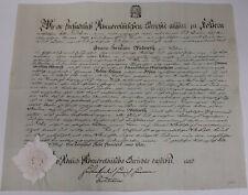 Geburtsbrief Rittergut Kössern (Grimma) 1804 für Johann Christian Wadewitz *1781