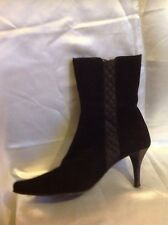 Sharlotta Bashini By Gardenia Black Ankle Suede Size 39.5
