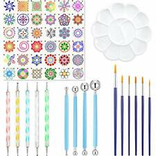 52 Pieces Mandala Dotting Tools Stencil Set Painting Tool Kits...
