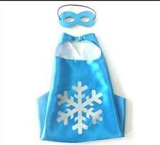 Blue Kids Superhero Cape & Mask Boy Girl Party Costume Set Superman Batman