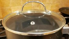 "VENTED Glass  POT PAN LID  7"" INSIDE DIAMETER, Silver handle"
