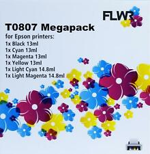 FLWR T0807 Multipack Black And Color Compatible Cartridge for FLWR Epson NON OEM