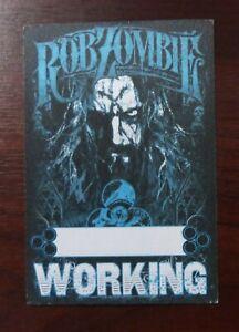 Rob Zombie VIP Guest Aftershow Crew Working Pass - unbenutzt