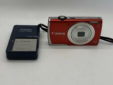 Canon PowerShot A2500 Digital Camera - 16.0 MP, 5x Optical Zoom, HD, Red