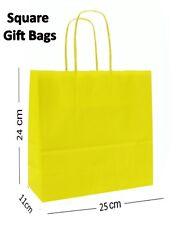 Cuadrado Papel Bolsas de Regalo Fiesta ~ Boutique Tienda ~ Seleccione Su Color &