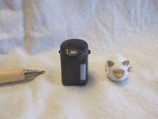 E001 Dollhouse Set Cordless Black Electric Thermo Pot w/ cat epoch Miniature1:12