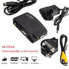 VGA S-video BNC AV to VGA PC Converter Adapter Box Camera DVD DVR CCTV Game PS2