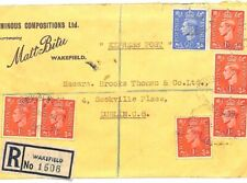GB Cover YORKS BITUMEN ADVERT Registered *Wakefield* 1946 {samwells-covers} R118