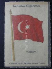 No.17 TURKEY - NATIONAL FLAGS (SILK) Kensitas/Wix 1934